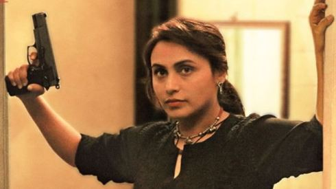 Rani Mukherjee as the hard hitting cop in Mardaani
